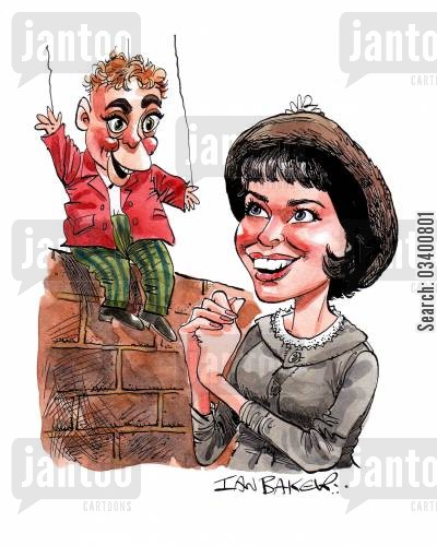 leading ladies cartoon humor: Leslie Caron.