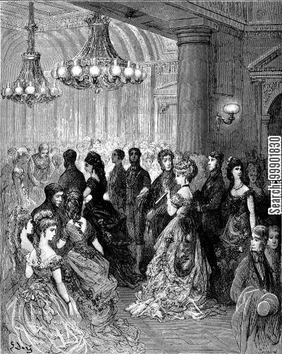 city of london cartoon humor: 'A Ball at the Mansion House'