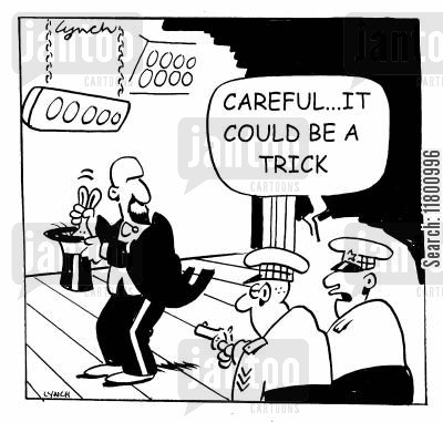 diversions cartoon humor: Careful...it could be a trick.