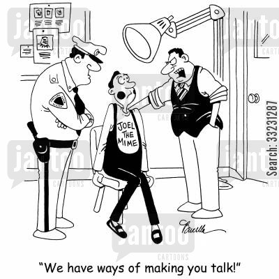read him his rights cartoon humor: 'We have ways of making you talk!'