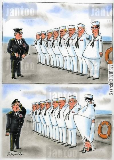 navy officers cartoon humor: Upside-down Sailor.