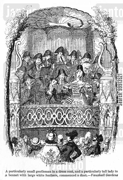 pleasure cartoon humor: Vauxhall Gardens
