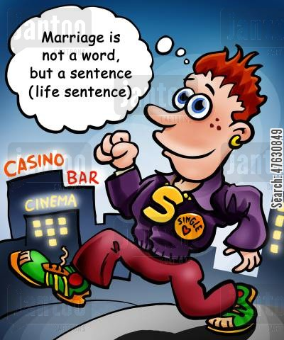 commitment cartoon humor: Single life
