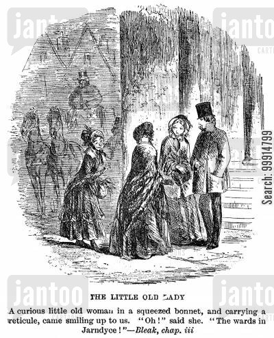 bleak house cartoon humor: The little old lady