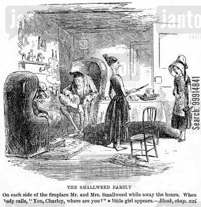 bleak house cartoon humor: The Smallweed family
