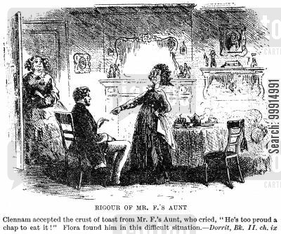 widow cartoon humor: Rigour of Mr. F.'s Aunt