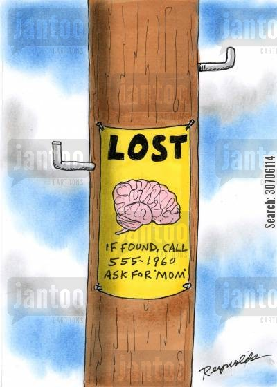 gone mad cartoon humor: Mind lost by a mother.