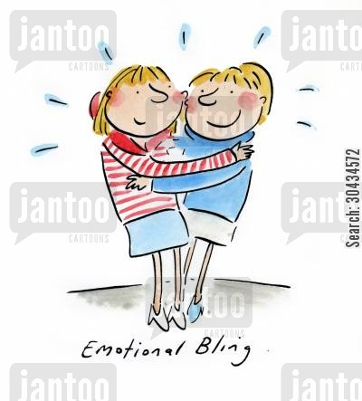 emotional attachment cartoon humor: Emotional Bling