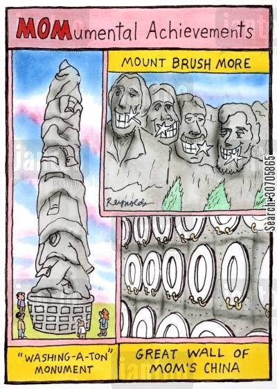 great wall of china cartoon humor: MOMumental Achievements.
