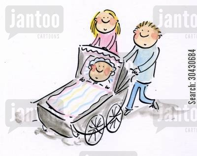 paternity cartoon humor: Family.