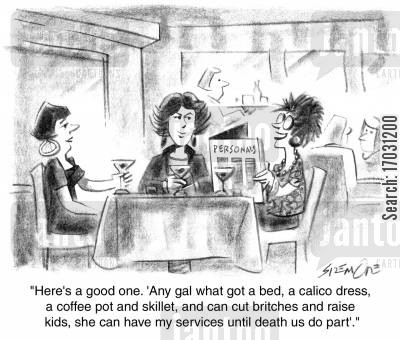 personals cartoon humor: A Good Wife.