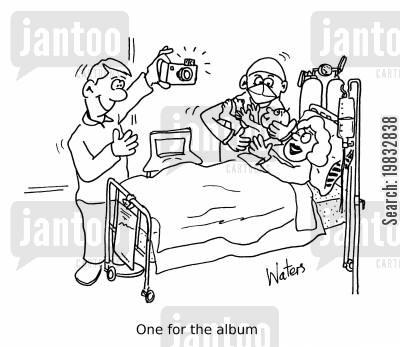 midwives cartoon humor: One for the album
