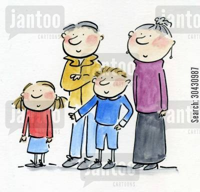 council house cartoon humor: Family.