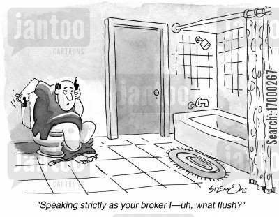flushes cartoon humor: 'Speaking strictly as your brother I - uh, what flush'