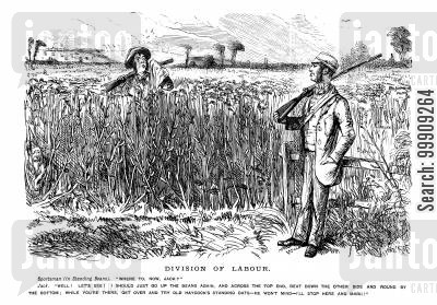 corn fields cartoon humor: Two Labourers.