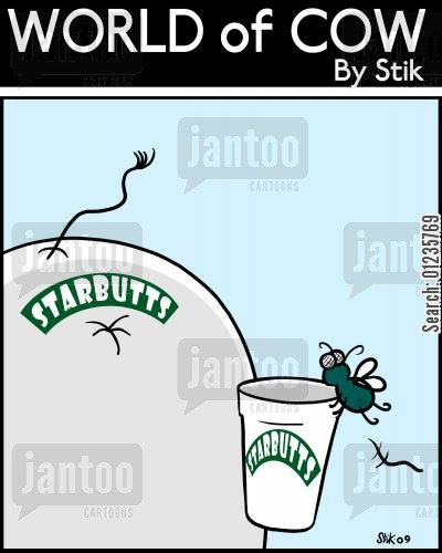 cow dung cartoon humor: Starbutts.