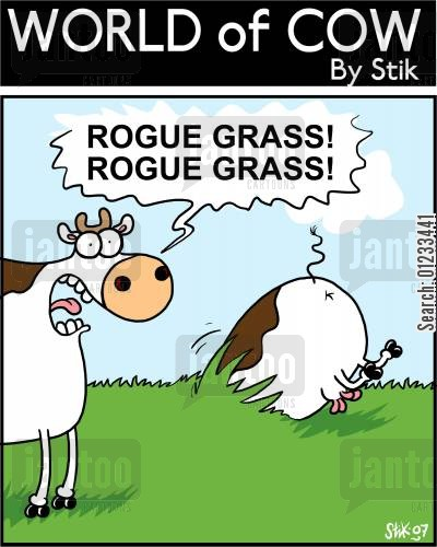 surprise attack cartoon humor: Rogue Grass! Rogue Grass!