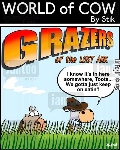lost ark cartoon humor: Grazers of the Lost Ark.