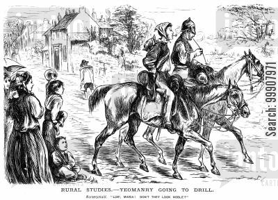 rural studies cartoon humor: Rural Studies - Yeomanry Going To Drill.