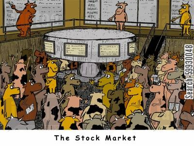 dow cartoon humor: The Stock Market.
