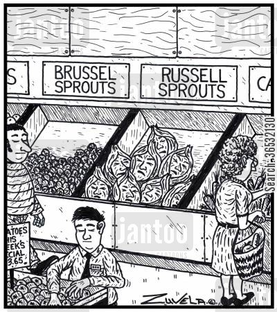 russell cartoon humor: Visual Gag: Brussel sprouts Russell sprouts a different range of sprout named