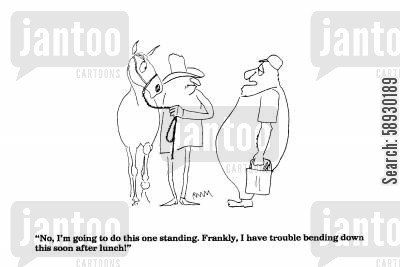 give birth cartoon humor: 'No I'm going to do this one standing.