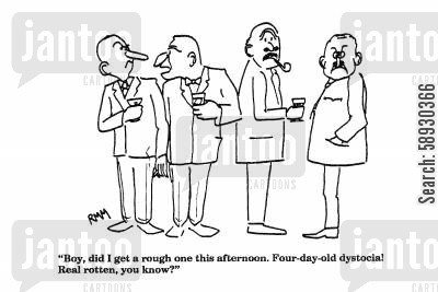 bad days cartoon humor: 'Boy, did I get a rough one this afternoon...'