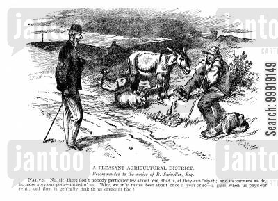 victorian farms cartoon humor: A Pleasent Agricultural District.
