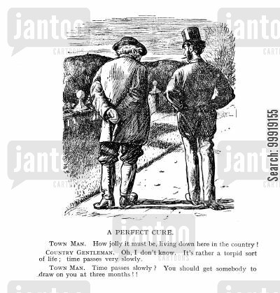 country gentleman cartoon humor: A Perfect Cure