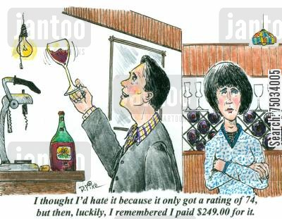rate cartoon humor: 'I thought I'd hate hit because it only got a rating of 74, but then, luckily, I remembered I paid $249.00 for it.'