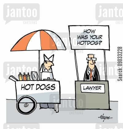 dine cartoon humor: How was your hotdog?