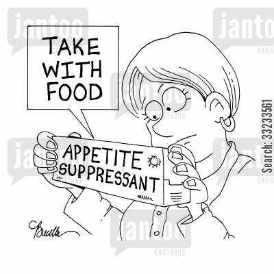 put on weight cartoon humor: Take With Food.