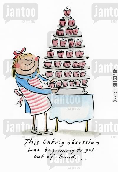 lawson cartoon humor: This baking obsession was beginning to get out of hand