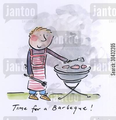 pimms cartoon humor: Time for a barbeque!