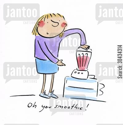 health drink cartoon humor: Oh you smoothie