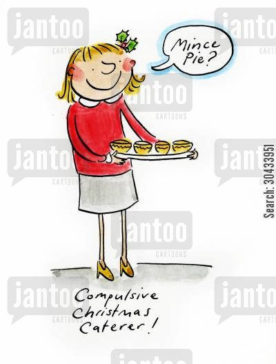 canape cartoon humor: Compulsive Christmas Caterer!