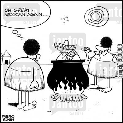 diets cartoon humor: 'Oh great, Mexican again...'