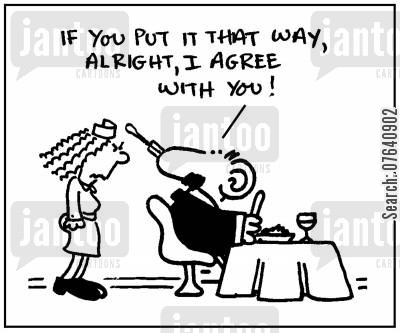 convinced cartoon humor: 'If you put it that way, alright, I agree with you.'