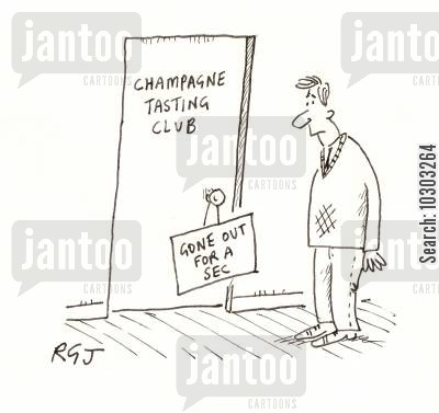 tester cartoon humor: Champagne Tasting.