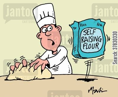 bakes cartoon humor: Self Raising Flour