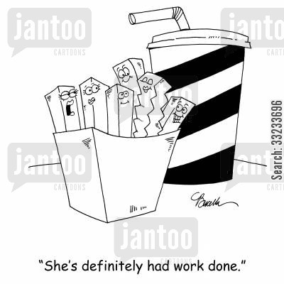 had work done cartoon humor: 'She's definitely had work done.'