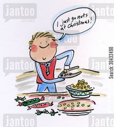 go nuts cartoon humor: I just go nuts at Christmas!