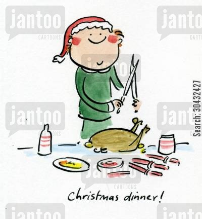 christmas meal cartoon humor: Christmas dinner!