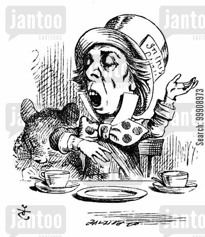 the mad hatter cartoon humor: Alice in Wonderland - The Mad Hatter.