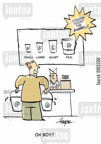 pail cartoon humor: Coming soon - the Barrel! 'OH BOY!!'