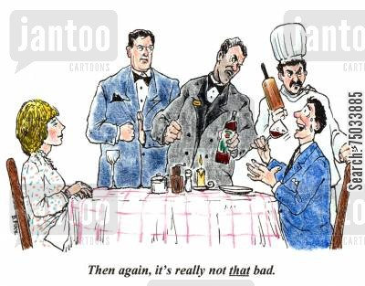 intimidate cartoon humor: 'Then again, it's really not that bad.'