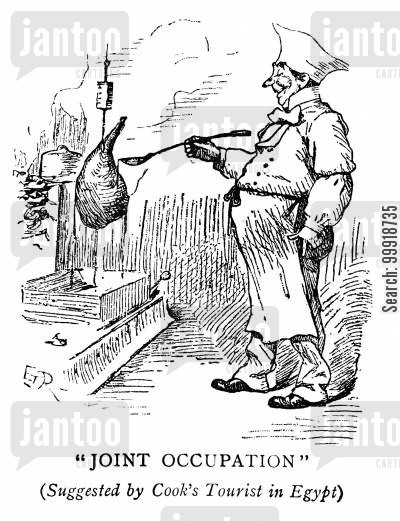 victorian tourist cartoon humor: Joint Occupation