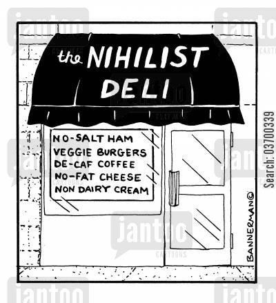 nihilists cartoon humor: The Nihilist Deli.