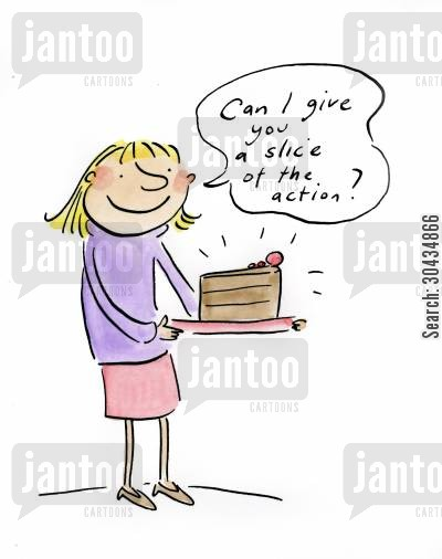 actions cartoon humor: Can I give you a slice of the action?