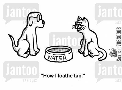 tastes cartoon humor: 'How I loathe tap.'
